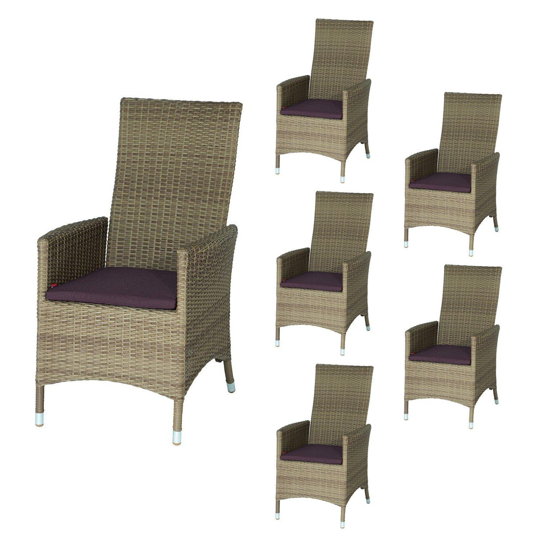 SIENA GARDEN Gartensessel Move II Sechser-Set – Sessel sand online kaufen