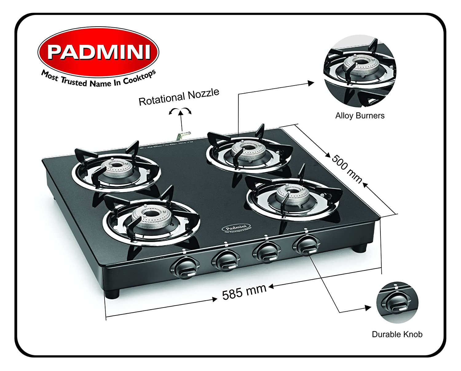 Buy Padmini Gas Stove Cs4gt Cloud Online At Low Prices In India  Amazon