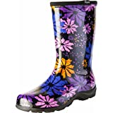 Sloggers Women's Waterproof Rain and Garden Boot with Comfort Insole, Flower Power, Size 10, Style 5016FP10