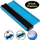10 Inch Multi-functional Contour Gauge Plastic Profile Gauge Multifunctional Shape Duplicator Edge Shaping Measure Ruler for Professional Precise Measurement (3 cm Wider, Blue) (Color: Blue, Tamaño: 3 cm Wider)