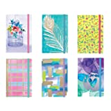 Personal Notepad Set Stationery (6 Notepads Total) w/ Elastic Band - 5.125