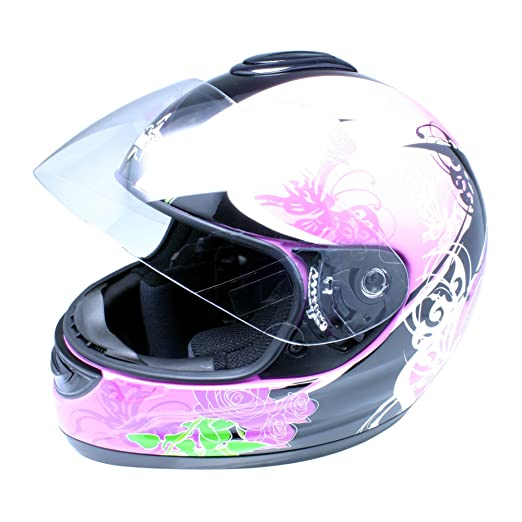 Roadstar 0.502.28 integral casque revolution motif papillons rose
