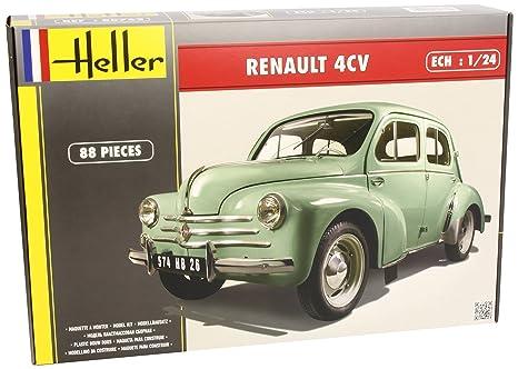 Heller - 80762 - Construction Et Maquettes - Renault 4 Cv - Echelle 1/24ème