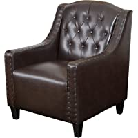 Christopher Knight Home Gabriel Tufted Leather Club Chair - Brown