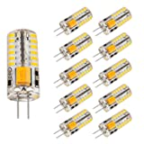 Bogao 10pcs Set G4 48 SMD LED Warm White 220LM Light Crystal Bulb Lamps 3 Watt AC / DC 12V Equivalent to 20W Incandescent Bulb Replacement Halogen Bulbs 3000K