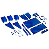 Wall Control KT-400-WRK BU Slotted Tool Board Workstation Accessory Kit for Wall Control Pegboard Only, Blue
