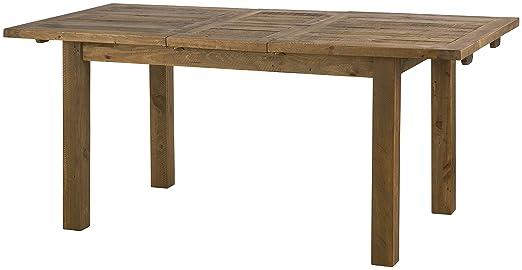 Julian Bowen Aspen Rough Sawn Extending Dining Table, Wood, Reclaimed Pine