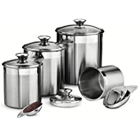 Tramontina 80204/527DS 8-Piece Canister and Scoops Set (Stainless Steel)