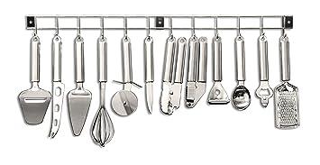 tarrerias bonjean 430401 barre barre de support d 39 ustensiles cuisine 12 12 pi ces. Black Bedroom Furniture Sets. Home Design Ideas