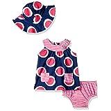 Gerber Baby Girls 3 Piece Dress Set, Circles, 6-9 Months
