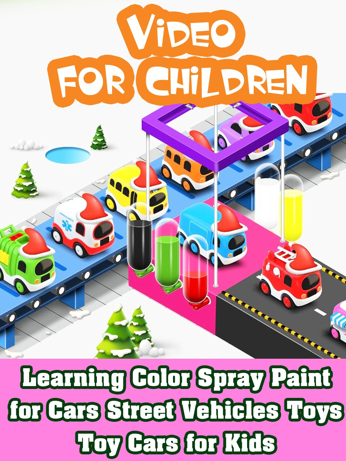 Learning Color Spray Paint for Cars Street Vehicles Toys