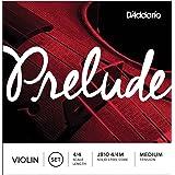 D'Addario J810 4/4M Prelude Violin String Set, 4/4 Scale, Medium Tension (Tamaño: 4/4 Scale)