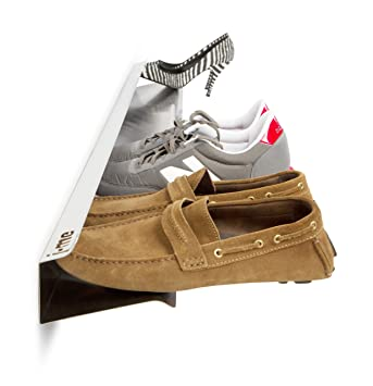 size 40 fd368 d9b28 j-me JM2004120 Schuhregal für 7 Paar Schuhe, wandbefestigt, Horiontal Shoe  Rack, 120 cm lang, Edelstahl - kdjhkfhm
