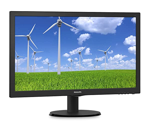 Philips 243S5LDAB 24Class LED Monitor, TN Panel, 1920 x 1080, 1ms, VGA, DVI, HDMI, Speakers (Color: Black, Tamaño: 24 inch)