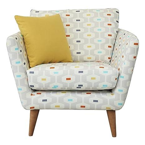 Fizz 1950 Chair, Fabric - Light Grey