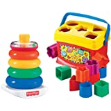 Fisher-Price Rock-a-Stack and Baby's 1st Blocks Bundle (Color: B)