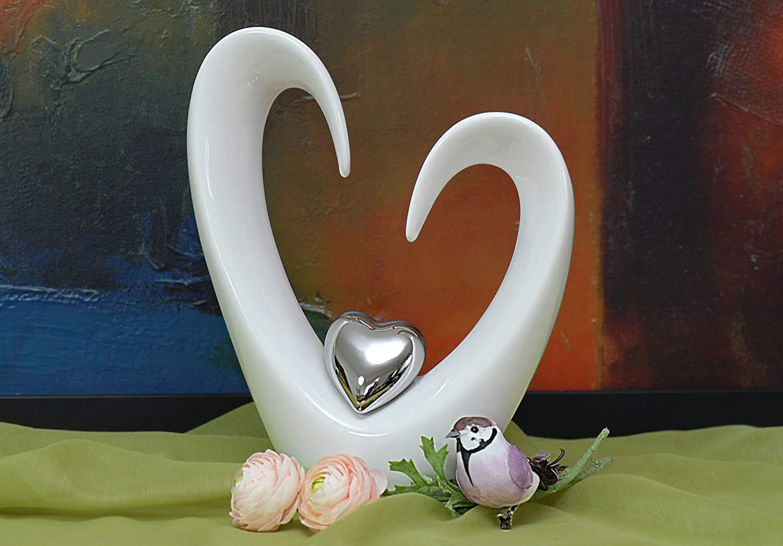 Wunderschönes Deko Herz Skulptur Liebe