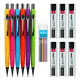 SoFire 6 Assorted Colors 0.7 mm Mechanical Pencil Set with 6 Tubes 0.7 mm Lead Refills and 1 Box Colored Lead Refills