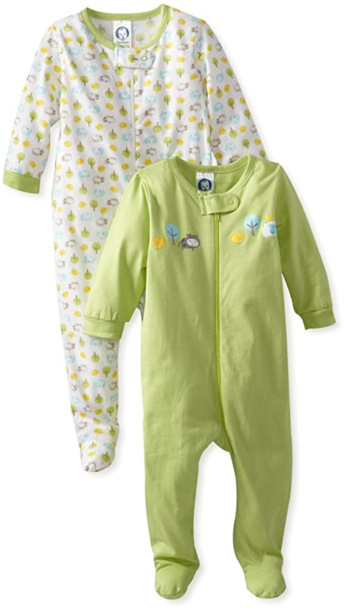 Gerber Unisex-Baby Newborn Animals Sleep 'N' Play Two-Pack