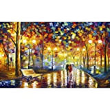 Crafts Graphy 5D Cross-stitch Painting with Diamonds Kit Full Drill – Circular Drill, Love Street, 16 x 20 Inches (Color: Multicolor)