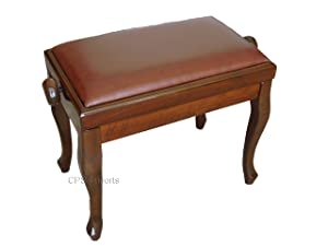 Adjustable Genuine Leather Classic Piano Bench in Walnut discuss purchaseusing news other related detail