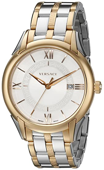 "Versace Men's VFI050013 ""Apollo"" Rose Gold Ion-Plated and Stainless Steel Casual Watch"