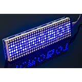 ACROBOTIC 8×32 Pixel LED Dot Matrix LED MAX7219, BLUE, 5V, 5-Pin Connector and Wire Included (Color: Dot Matrix Blue, Tamaño: 8×32)