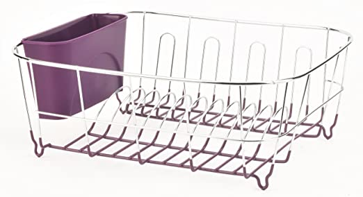 Small Dish Drainer Sink Drying Rack Tray Cutlery Plate