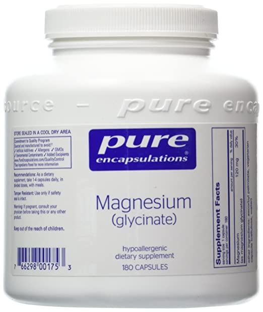 Magnesium Glycinate 360 Vcaps 120mg, Pure Encapsulations