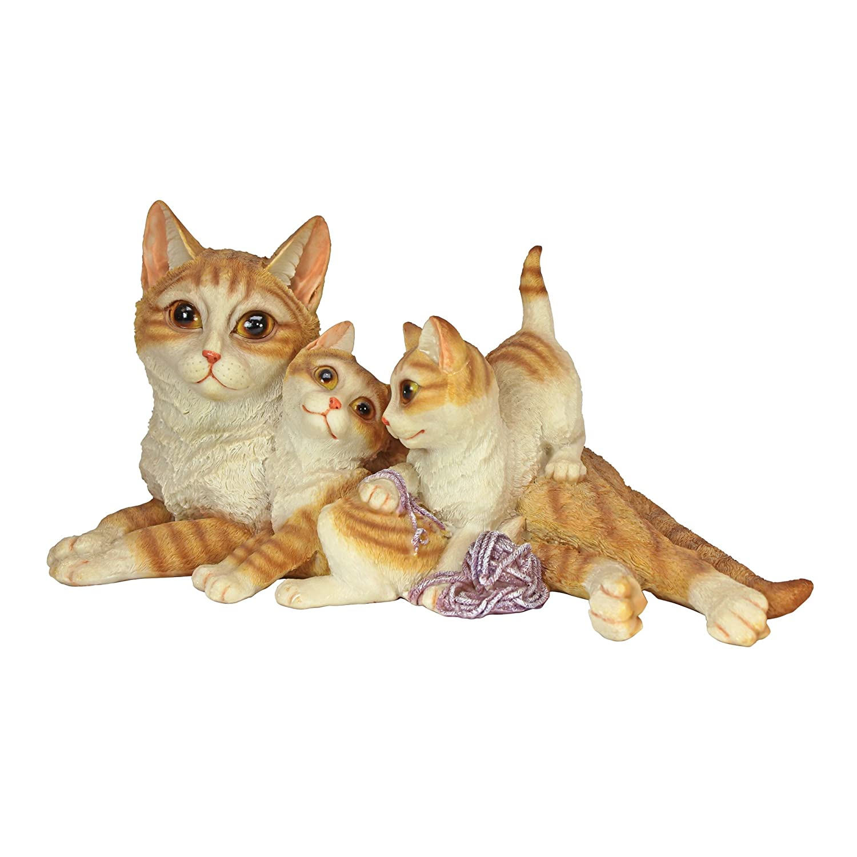 Garden Decor Cats: Statue Cat Family Art Animal Sculpture Resin Outdoor Lawn