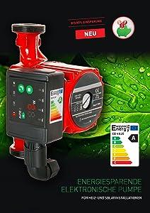 Hocheffizienzpumpe Umwälzpumpe Heizungspumpe 2560 180 elektronisch  BeleuchtungBewertungen
