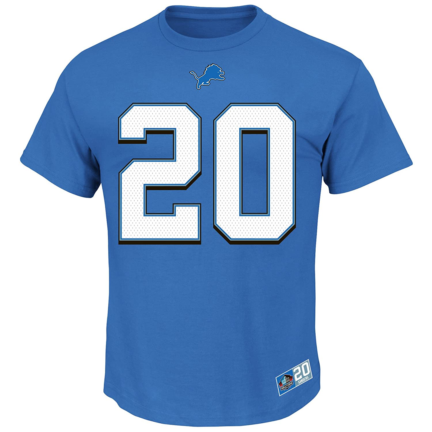 Men's Detroit Lions Mitchell & Ness Blue Pump Fake Long Sleeve T-Shirt