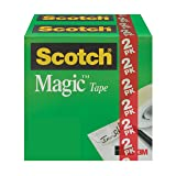 Scotch Magic Tape, 3/4 x 1000 Inches, 2 Boxes/Pack (810K2)