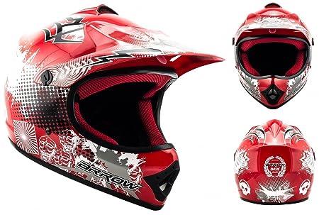 ARROW AKC-49 red - rouge casque motocross KIDS moto pour enfants Taille: XS S M L XL