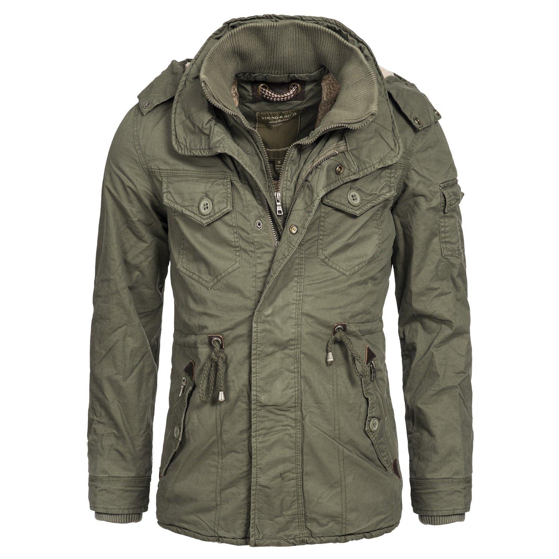 Winterjacke | Wintermantel | Baumwoll-Jacke für Herren Modell JK-413 von Young & Rich – eleganter Baumwoll-Mantel im schlanken Parka-Stil auch für den Übergang Herbst / Winter jetzt kaufen