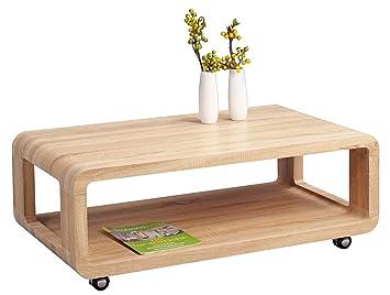 HomeTrends4You 218242 - Mesa de café (105 x 40 x 60 cm, roble)