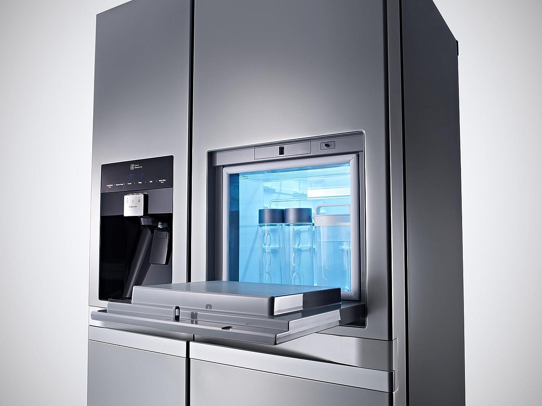 lg gsp 545 pzqz k hlschrank inkl eis crushed ice u wasserspender f r stat. Black Bedroom Furniture Sets. Home Design Ideas