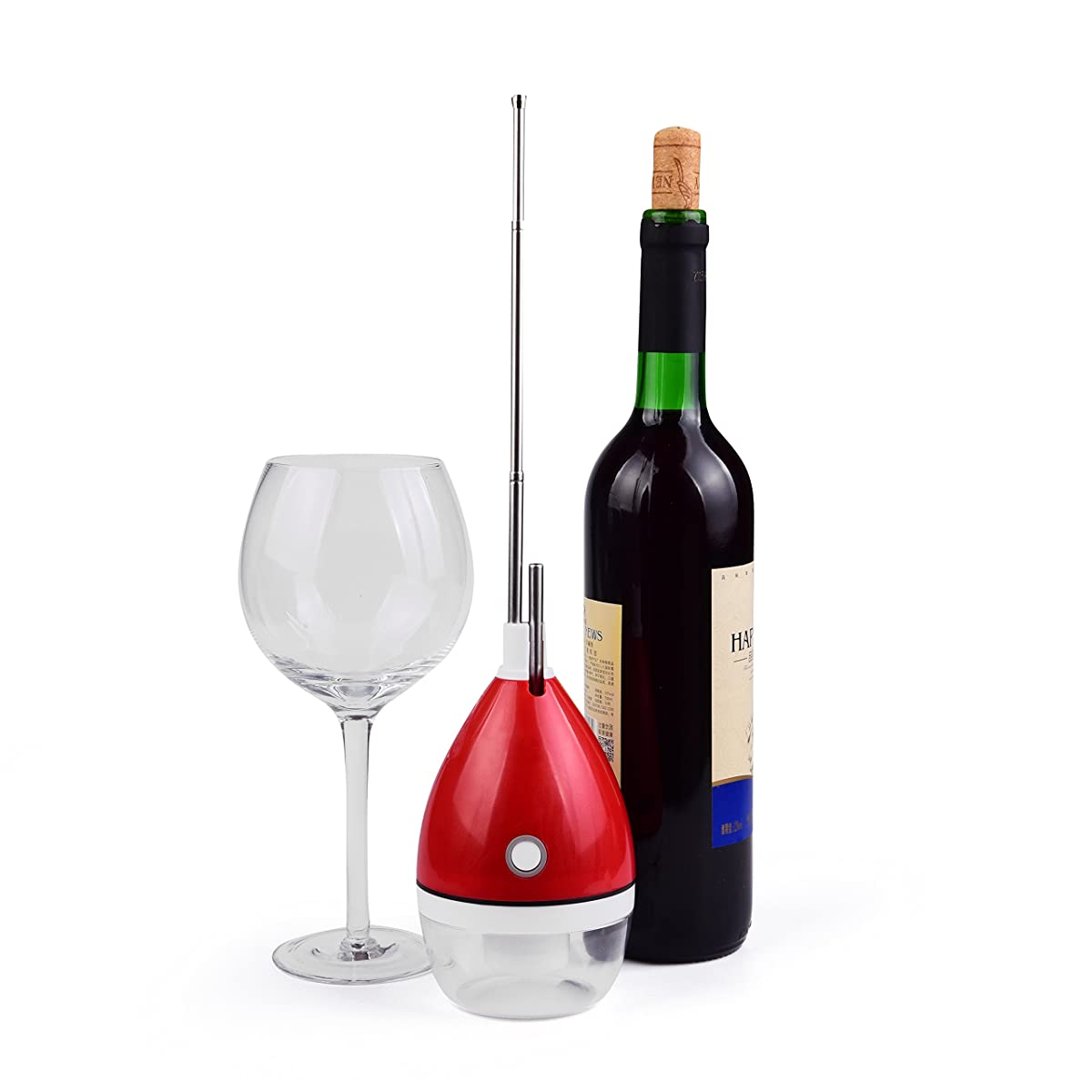 Premium Wine Aerator Decanter - Instant Aeration, Lightweight, Portable - Battery Operated Aerating Pourer & Wine Decanter