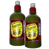 Picamas Hot Sauce Jumbo 19oz (Pack of 2 Bottles) (Color: green)