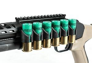 Monstrum Side Mounted Shell Holder with Picatinny Rail Mount for Mossberg 500/590/Shockwave Series Shotguns