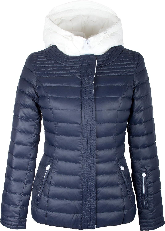 """932 Damen leichte Daunenjacke """"TARORE"""" mit Kapuze blau günstig online kaufen"""
