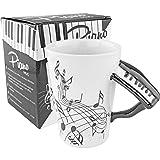 Fairly Odd Novelties FON-10216 Black Piano Coffee Mug One Size White (Color: White, Tamaño: One Size)