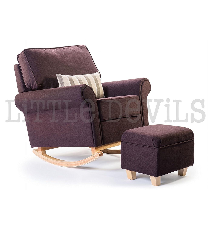 Award Winning Hush Hush Rocken,/Still/Glider Stuhl (in Pflaume)–wandelt in Atemberaubende Sessel auch. Die ideale gleiten Stuhl für Schwangerschaft oder nur Entspannen in der Wintergarten günstig kaufen