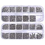 Mini Skater 23 Size Nickel Plating Tiny Eyeglass Screws Sunglass Spectacles Watch Repair Replace Micro Parts Assortment kit,1650PCS