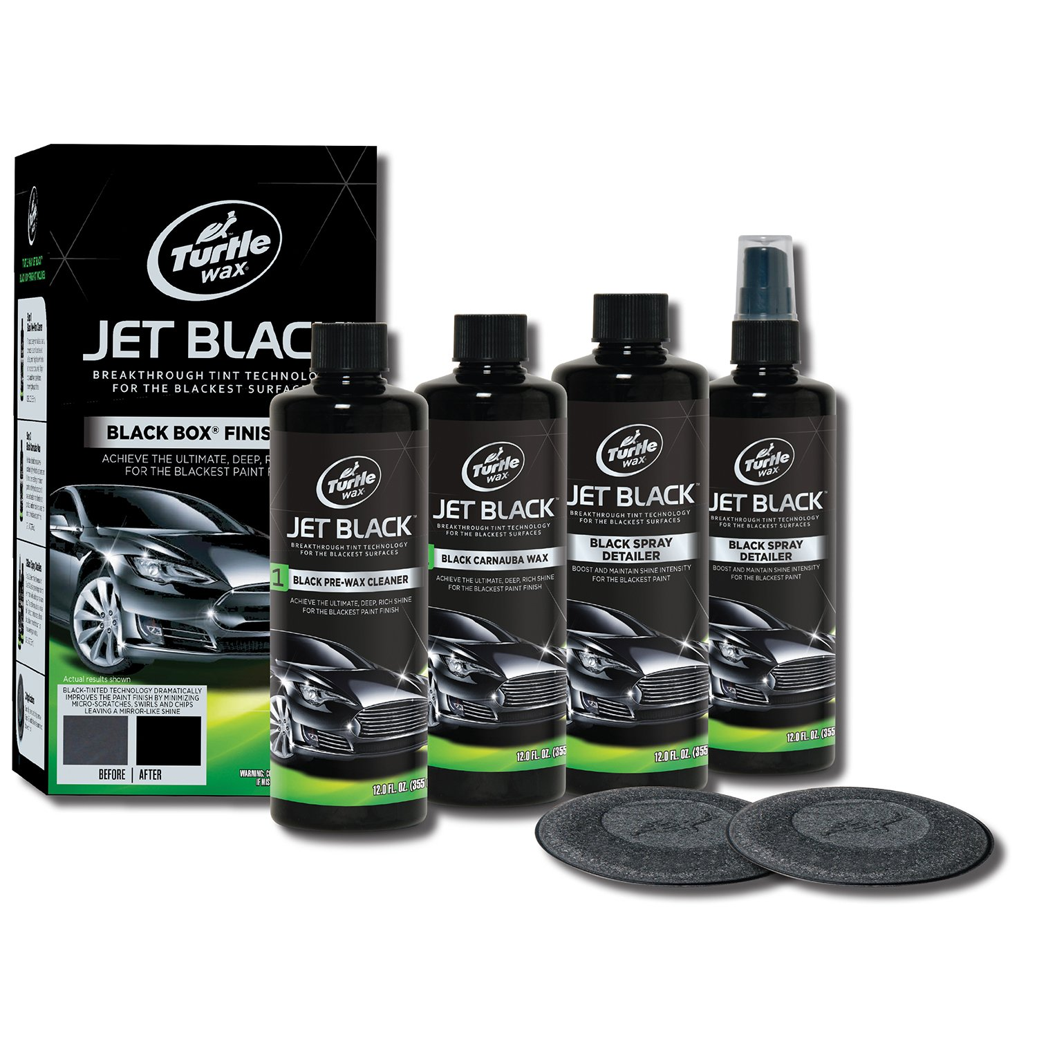 turtle wax jet black box kit car bike 4 wheeler polish. Black Bedroom Furniture Sets. Home Design Ideas