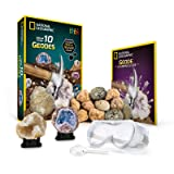 National Geographic Break Open 10 Premium Geodes – Includes Goggles, Detailed Learning Guide & 2 Display Stands - Great Stem Science Gift for Mineralogy & Geology Enthusiasts of Any Age (Color: Original Version, Tamaño: Original Version)