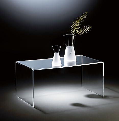 Hochwertiger Acryl-Glas Couchtisch, klar, 90 x 50 cm, H 42 cm, Acryl-Glas-Stärke 12 mm