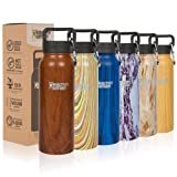 Healthy Human Wood Collection Stainless Steel Vacuum Insulated Water Bottle | Keeps Cold 24 Hours, Hot 12 Hours | Double Walled Water Bottle | 21 oz Harvest Maple (Color: Harvest Maple, Tamaño: 21 oz)