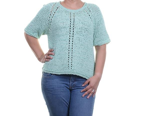 Ellen Tracy Women's Soft Focus Tape Yarn Knit Sweater