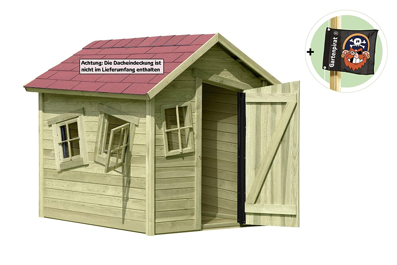 Spielhaus Marie-Fun aus Holz Gartenhaus für Kinder von Gartenpirat® günstig